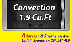 "Convection Whirlpool Stainless Steel Over-the-Range Microwave (1.9 Cu. Ft.) - YWMH76719CS Display Model, Good Quality BRAMPTON, MISSISSAUGA, SCARBOROUGH, TORONTO, GTA FIXED PRICE Fan ""Flavour-ite."" Flavourful meals in a microwave are possible, thanks to"