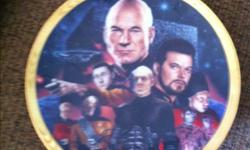 """Star Trek plate. Titled """"The Best of Both Worlds"""". Limited edition. #1342. 1994 Paramount Pictures. By Keith Birdsong. Hamilton Collection. On a plate hanger. This ad was posted with the Kijiji Classifieds app."""