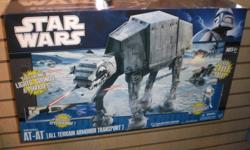 HASBRO AT-AT, Millenium Falcon, TIE Bomber, TIE Fighter, AT-ST   All in mint condition, come with boxes but not in boxes.   Contact me with offers. Will sell seperately.