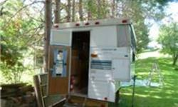 stove,,fridge,,[3way],water tank,,steps,,hold downs,& elect hook up for truck,,THIS UNIT IS IN HUNTAVILLE,,,NO ,,E-MAIL,,,PLEASE,,,CALL,,,705--789--2876,,,IF N/A,,LEAVE MESSAGE,,THANKS,,