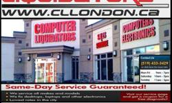Computer Liquidators  229 Horton St., London, ON N6B1L1 Phone: 519-433-3429 Fax: 519-433-4469 BOXING WEEK! ALL ITEMS ARE ON CLEARANCE!! CHECK US OUT!! We Sell New/Used Laptops /Desktops/ Tablets/LCDs/TVsCheck Out Our Website! Ready to Use with Just a