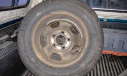 have 15 in steel rim 5 bolt came off a chevy astro van 2 have winter tires and 2 without tires 60.00 or obo The holes are 3 ins apart
