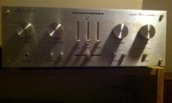 Vintage MARANTZ stereo silver amplifier. circa:1979-1980 60 watts per channel Model 1090; 120V AC 60HZ 35A Excellent condition