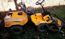 Stiga Articulating Lawn Tractor 46 inch Deck Triple Blade System Good Working Tractor 12.5 HP Briggs Motor $750.00 delivered Ottawa/Outaouais area $700.00 You pick up More for outlying areas