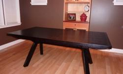 Brand new contemporary Stockton Trestle dining table -  seats 10.  $1000.00 or best offer