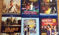 Previously enjoyed movies for sale. All 6 for $25 * The Strangers (unrated) blu-ray, Dolby DTS Master audio 5.1, includes theatrical version as well as the unrated version, deleted scenes, 'The Elements of Terror' HD Feature * Slumdog Millionaire blu-ray,