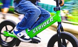 WINNIPEG BALANCE BIKES Ages 1-5 years! No Pedals = No Training Wheels! Build confidence and co-ordination while learning balance on 2 wheels the FUN + SAFE way! Strider Classic - entry level balance bike $ 109.99 6.7 lbs. - steel frame - all-terrain no