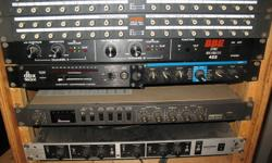 If interested please respond with your name, phone number and best time to call. thanks   FOSTEX 3011 RCA to RCA Studio Patch Bay (Pair)  @$25 each BBE 422 Sonic Maximizer serial# D02727   $200 LEXICON LXP-1     $100 DBX 163X OverEasy Compressor Limiter