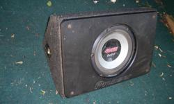 """10"""" Pioneer Impp & Pioneer box 10"""" Pioneer Impp 400w max / 120w Rms Single 4ohm Voice Coil and a Nice Pioneer Triangle Shaped Sealed Sub Box. Solid 3/4"""" mdf.   $60 Firm Older Alpine 9 Band EQ/Amp 9 Band Equalizer / Amplifier 40w x 2 Model # 3218 Was"""