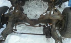 good subframe from 74 z28 camaro,will fit 1970-81 camaro/firebird/trans am,subframe has all the parts you see in the picture,$200