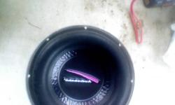 (4) audiobahn 10'' 450wrms 1000w peak subwoofers. still have lots of life left never abused, had a kid, cant fit stroller in trunk :( my loss your gain.