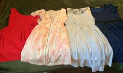 All four dresses for $25 total. Sizes Small and 1 Size Med Great condtion