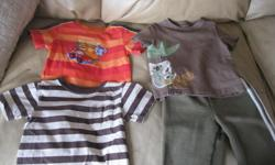 Summer Lot of Boys Size 18-24m Includes: 3 short-sleeve tops 1 pants Get ALL 4 items for ONLY $10 AWESOME Good condition can meet in west end of ottawa (kanata) or pickup in Constance Bay