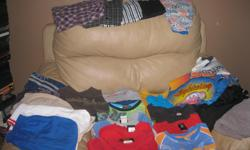Summer Lot of BOYS - size 6(6x) Includes: 14 tshirts 3 dress shirts 1 short-sleeve top with collar 2 pairs of summer PJS (counts as 4 items) 6 pairs of shorts 2 swim shorts Assorted Brands Good condition Selling as a lot only - get ALL 30 items for only