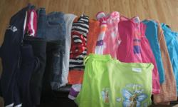 Summer Lot of Girls Size 10-12 Assorted Brands Lot includes: 1 pair of blue capris 3 pair of jean shorts 1 - 2piece outfit (counts as 2 items) 1 tye-dye t-shirt 9 tank tops 2 short-sleeve tops 4 pairs of shorts 1 grey sleeveless light sweater Selling as a