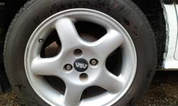 set of summer tires and rims 205 55 15 4 bolt  came off 91 civic, will fit others.. 2 tires are new and 2 not much left to them.. priced for fast sale, rims alone are worth over 700 plus to new tires. $400 not a cent less