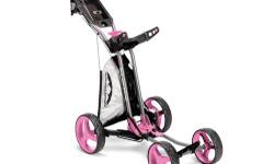 $140 for Sun Mountain Sport Micro-Cart has four-wheel design which has a compact folded foot print and is light weight, making the cart easy to get in and out of your vehicle. The cart is low center of gravity results in superior stability on the course.