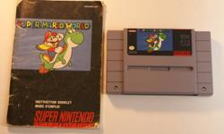Open to all reasonable offers! Can deliver in London, or ship ANYWHERE! Up for grabs, I've got Super Mario World for SNES for only $11.00, OBO! This is the first Mario game for the SNES, and always entertains! I've got a couple copies, one with a manual.
