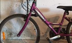 A very gently used children's intermediate bicycle. 18 speed, Barely used Make a reasonable offer!