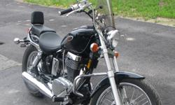 Lady driven  2003,650 Suzuki savage  for sale black ,very low km's.Good starter bike.Only driven one summer.
