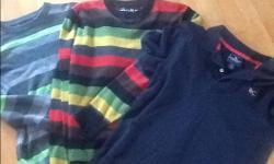 2 Boys size 12 sweaters and one size M polo shirt All in excellent condition from a smoke and pet free home