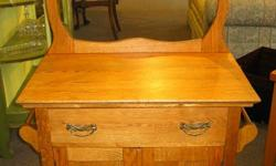 Come to Charmaine's Past and Present 1083 Fort st. (just before Cook) to get this sweet antique solid oak washstand for just $299.00. This piece is perfect for any room! See us at 1083 Fort st., call (250) 382-1083, and view more great items at