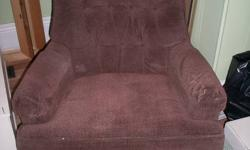 Swivel Brown Corderoy Reclining Chair Does have couple of small wear marks. $65.00