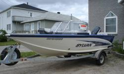 2009 Sylvan 17.5' and 2010 Evinrude E-tec 175HP! w/WARRANTY!!! Includes power steering, electronic trim tabs, 6 Rod locker, 2 stainless steel props, 1 aluminum prop, full travel cover with side Rock guards, full bimini top, swing away tong, 2 live wells,
