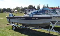Sylvan Super Snapper, live well ,storage under new seats and in the bow, 35 HP Evenrude which runs excellent and trailer with good tires.  All in great shape.  Looking for John boat for duck hunting. Asking $2900 Kevin...519-326-9285 Boat is in Elk Lake.