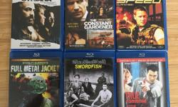 Syriana, The Constant Gardener, Speed, Full Metal Jacket, Swordfish, True Romance Director's Cut on blu-ray * Syriana Blu-ray Dolby 5.1 Additional scenes, documentary Weaving Reality into Drama, conversations with Collney, Damon and a few other extras. *