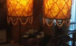 Beautiful Lamps with beads on both shades in excellent condition