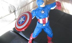 Talking Captain America with shield Son received as a gift but did not play with Brand New - no longer have box Great gift idea can meet in west end of Ottawa (Kanata) or pickup in Constance Bay