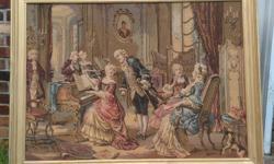 Framed tapestry, large
