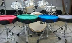 Just arrived! Beautiful brand new Taye Velvet Top Drum Thrones! Featuring the comfort of a mesh covering; these thrones have been created using proprietary stitching patterns. These thrones also features ultimate spinal support created by optimal foam