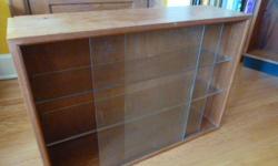 Mid Century Modern Teak Hutch glass shelves with nice raised edges 31 1/2 x 9 1/2