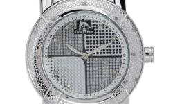 techno master silver tone metal watch with 2 extra  leather straps one white and one black  retails $533 asking $90  with diamonds around outside of watch call me at 1-705-578-2343 elliot lake will ship at  buyers expence
