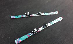 Technopro Sweety 140 cm skis (55 inches from floor for those who want to measure their child -floor to nose/eyes) Great condition used one season for lessons. Asking $100 for skis only --------------- 26 size (girl size 8) junior Salmon T3 boots used the