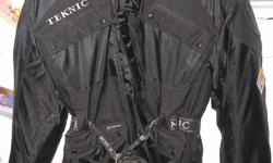 I have a size 42 Teknic motorcycle jacket for sale.  It's black, has all the padding and has only been worn about 5 times.   It was purchased for 400.00 dollars and am asking 200.00 but make me an offer,  it's been sitting around collecting dust for far