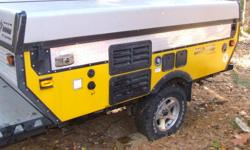 """Hot water. Furnace. 25' outside hose/shower combination.... Steel box frame. 15"""" alloy wheels and all-terrain tires. Integrated generator deck.   Exactly the same the one in this website (ours has no AC and no BBQ)   Excellent condition.       $8,000"""