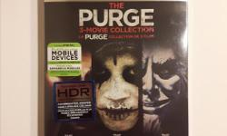 Includes: The Purge The Purge: Anarchy The Purge: Election Year $10 each or $25 for all three. Brand new and unopened.