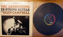 The Astounding 12-string Guitar of Glen Campbell 1964 Capitol Rainbow Label Stereo LP M- Asking $15