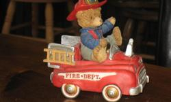 """The Brownstone Teddy Bears musical collection. """"Where's the Fire?"""""""