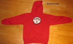 Very nice hoodie, Thing 2, from the movie Cat in the Hat. Bought at Universal Studios in Orlando, Florida for my son. Hardly worn. Size Large for kids. Get a free poster with this purchase. For location see the map on the ad. Please view our other ads.
