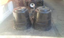 Two gently used 80 gallon Earth Machine composters. Both in excellent condition. Have too many. Compare new at $109.00 each.