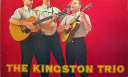 """Seven of their first eight albums (of course with """"Tom Dooley"""" on the first one) from 1958 to 1960...all on Capitol Records: The Kingston Trio ...From The Hungry I At Large Here We Go Again Sold Out String Along The Last Month Of The Year Seven for $5.00"""