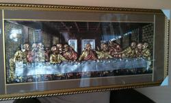 Vintage Leonardo DaVinci Style THE LAST SUPPER Framed Print Picture (BRAND NEW) The Last Supper is the final meal that, in the Gospel accounts, Jesus shared with his Apostles in Jerusalem before his crucifixion. GORGEOUS FRAME ACCENT IN ANY DINING ROOM