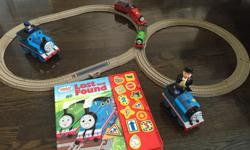 Thomas and Friends toys and board books. Excellent like new condition sold individually or as a bundle. Item description, pictures and prices as listed below. Free Thomas and Friends book with bundle purchase. -Thomas and Friends battery operated James