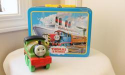 THOMAS - LUNCH BOX PERCY THE TRAIN BOTH FOR $12 DOLLARS GREAT SHAPE non smoking home