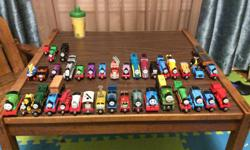 hi im looking to get some thomas the train take n play stuff. trains, tracks, buildings, etc. please let me know what you have and a price of what you want for it. thanks