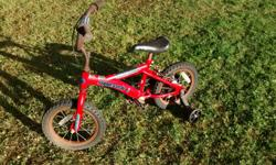 Three Children Bikes for 30$ cash. One toddler bike with training wheels and two children bikes. They are used and rusty.